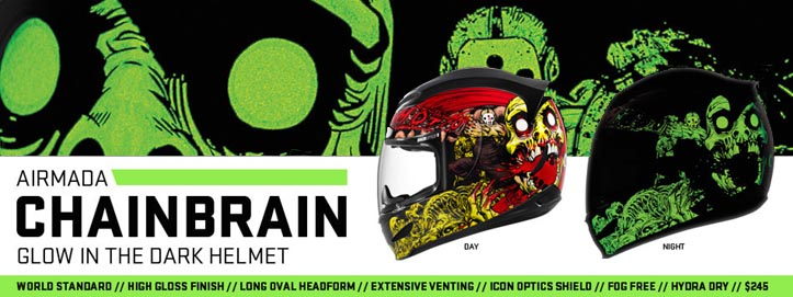 Buy the Icon Airmada Chainbrain Full Face Motorcycle Helmet at BikerPerformance.com