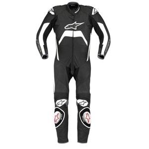 Alpinestars Tech 1-R One-Piece Leather Suit - Black / White