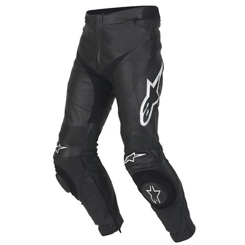 Motorcycle Safety Gear >> Alpinestars Track Leather Pants - Black