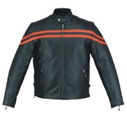 Barney's Basic Scooter Leather Jacket - Orange