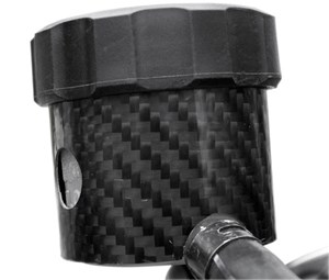 Carbon Fiber Works Front Brake Reservoir Cover - Suzuki SV650 (99-08)