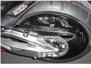 Carbon Fiber Works Chain Guard - Suzuki GSXR1000 (05-06)