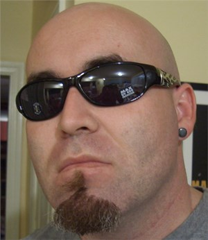Chrome Flamed Biker Shades