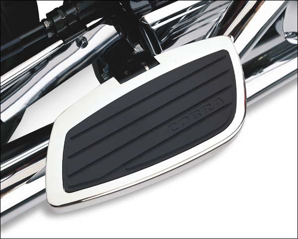 Cobra Front Floorboards Chrome Swept for 04-07 Honda VT750CA