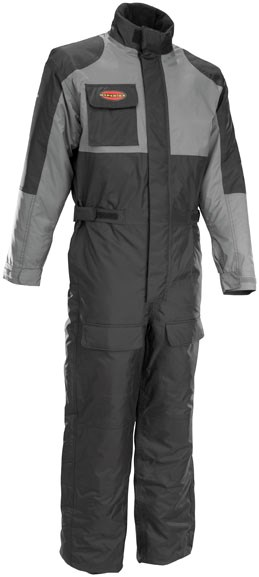 First Gear Thermo 1 Piece Suit- Black / Gray