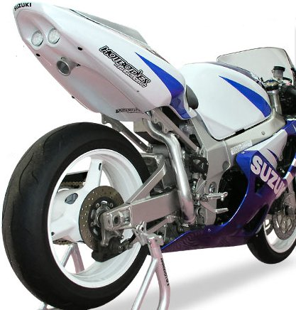 Hotbodies Racing Undertail Exhaust For Suzuki Gsxr600 01 03