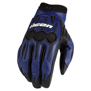Icon Arc Leather Gloves - Blue