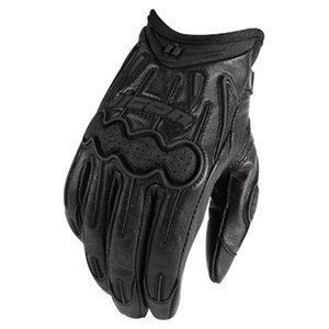 Icon Arc Leather Gloves - Stealth