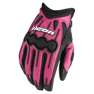 Icon Arc Womens Leather Gloves - Pink