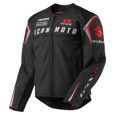 Icon Automag Suzuki Leather Jacket - Black