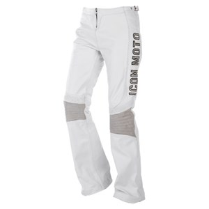 Icon Bombshell Leather Pants - White
