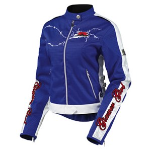 Icon Hella Gixxer Girl Womens Textile Jacket - Blue
