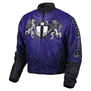 Icon Hooligan Battlecry Mesh Textile Jacket - Blue