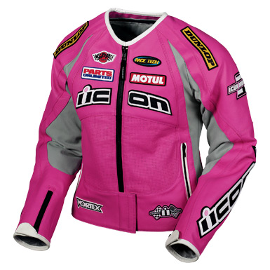 Icon Merc Hero Womens Leather Jacket - Pink