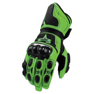 Icon Merc Long Leather Gloves - Green