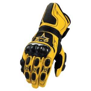 Icon Merc Long Leather Gloves - Yellow