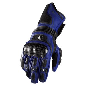 Icon Merc Long Womens Leather Gloves - Blue