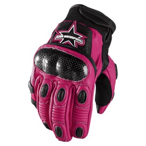 Icon Merc Short Womens Leather Gloves - Pink