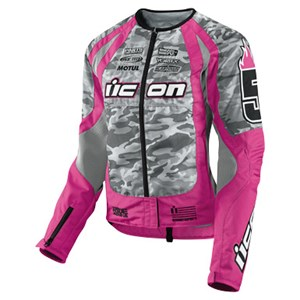 Icon Merc Team Stage 3 Textile Jacket - Pink