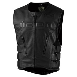 Icon Regulator Leather Vest - Aircooled