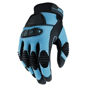 Icon Tarmac V2.0 Womens Gloves - Light Blue