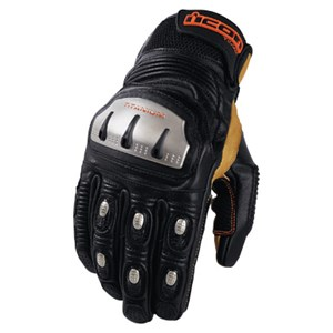 Icon TiMax Trx Leather Gloves - Black