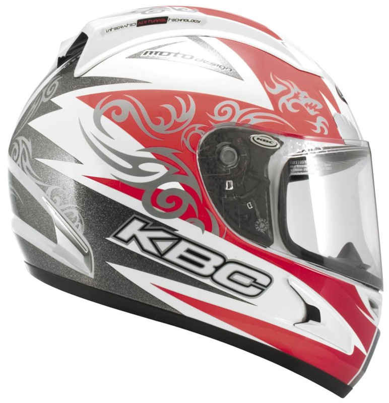 26848768 KBC Force RR Full Face Helmet - Blade 2 Red / White / Silver