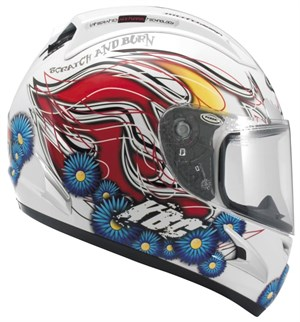 KBC Force RR Full Face Helmet - Californian White