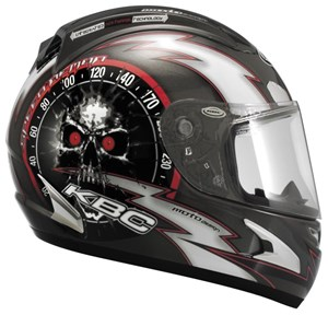 KBC Force RR Full Face Helmet - Speed Demon Gunmetal