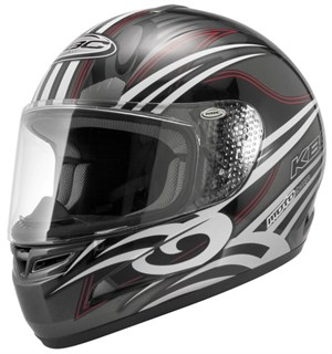 KBC Force S Full Face Helmet - Dynamo Gunmetal / Black
