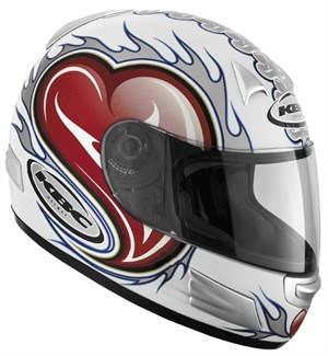 KBC TK-8 Full Face Helmet - Heart