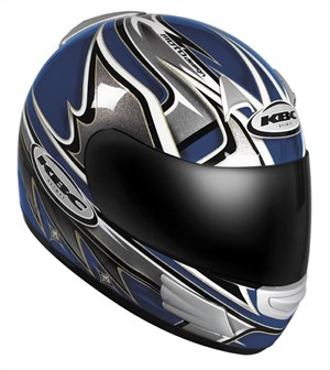 KBC TK-8 Full Face Helmet - Slick Blue / Silver