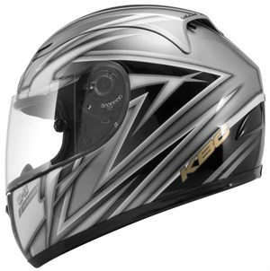 KBC VR-1X Full Face Helmet - Silver / Black