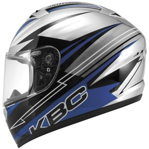 KBC VR-2 Full Face Helmet - Racer Blue / Black