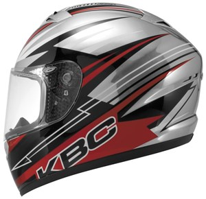KBC VR-2 Full Face Helmet - Racer Red / Black