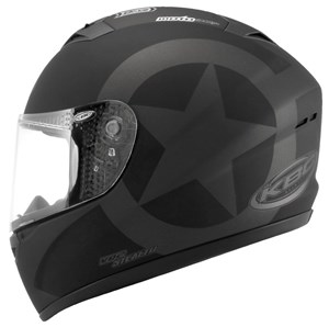 KBC VR-2 Full Face Helmet - Stealth Metallic Black