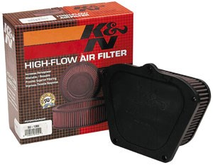 K&N OEM Style Replacement Air Filter - Kawasaki ZX6R/RR (05-06)