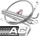 OVERSIZE Cruiser Braided Cable/ Front Brake Line Set (Dual Caliper)