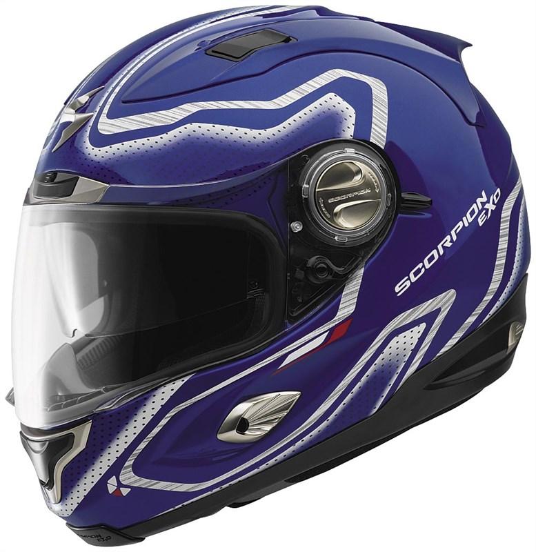 scorpion exo 1000 apollo full face helmet blue. Black Bedroom Furniture Sets. Home Design Ideas