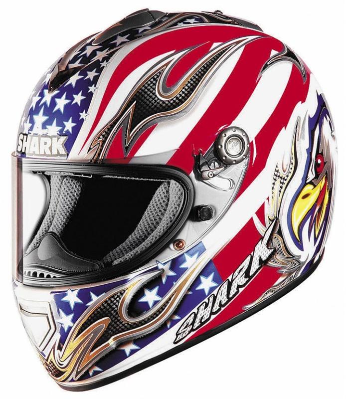 Shark Rsx Full Face Helmet Eagle White Red Blue