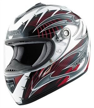 Shark RSX Full Face Helmet - Hook White / Red