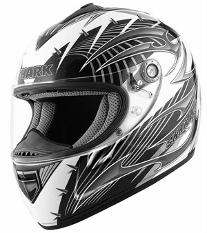 Shark RSX Full Face Helmet - Hook White / Silver