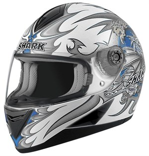 Shark S 650 Full Face Helmet - Wings White / Blue