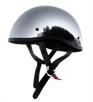 Skid Lid Original Half Helmet - Chrome
