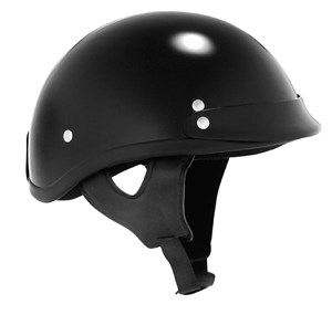 Skid Lid Traditional Half Helmet - Black