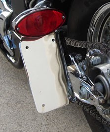 SoCal Premier Chrome Cateye Sidemount with Tail Light for Honda Shadow