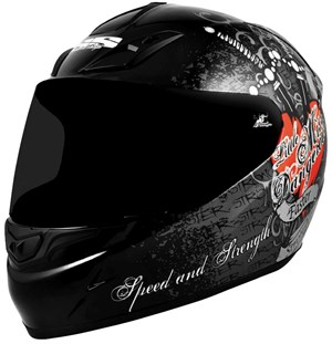 Speed & Strength Little Miss Dangerous Full Face Helmet - Black