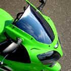 Sportech V-Flow Chrome Series Windscreen - Kawasaki ZX14 06-08