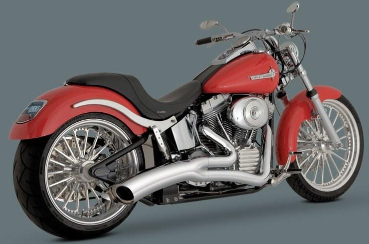 Vance & Hines Big Radius 2-Into-1 Exhaust - Harley Davidson Rocker (08-11)