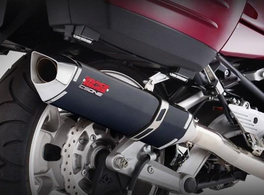 vance & hines cs one slip-on exhaust - kawasaki concours 14 (09-